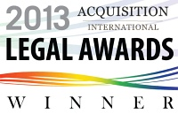 Acquisition International Legal Award Winner 2013